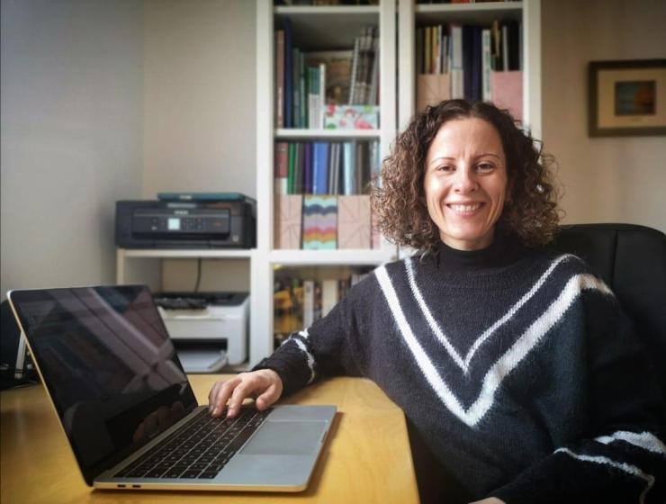 Irene Chacón, docente de bachillerato semipresencial
