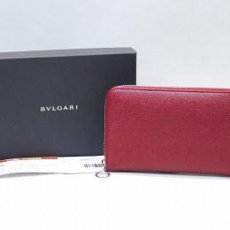 BVLGARI[ブルガリ]BVLGARI BVLGARI/ブルガリ ブルガリ/ラウンドジップ長財布/ルビーレッド/37340