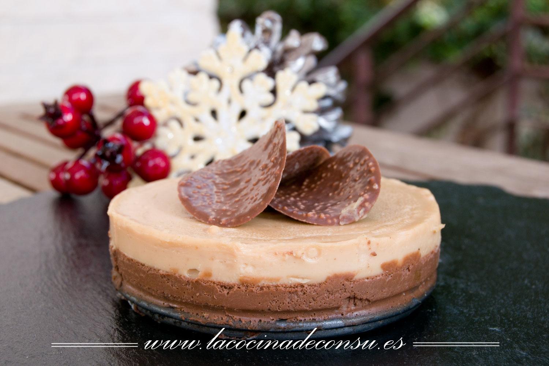 Tarta de turrón y chocolate SIN HORNO