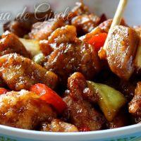 Pollo agridulce tipo chino