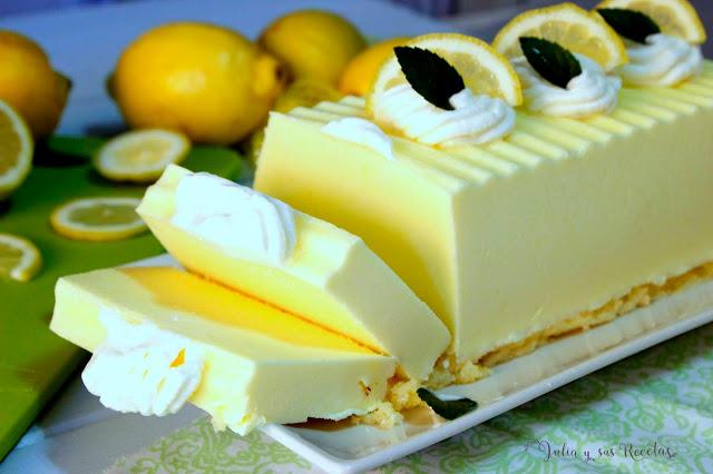 Semifrío helado de limón