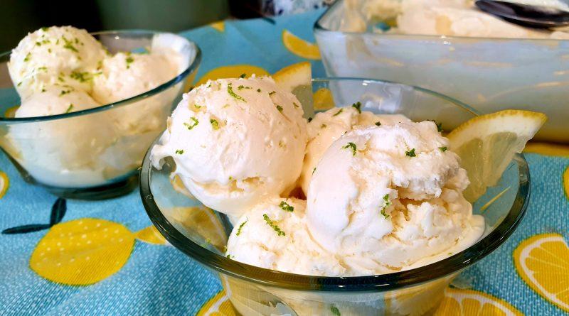 El mejor y más cremoso helado de limón