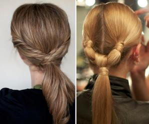 Stylish cute ponytails ideas for medium to long hair
