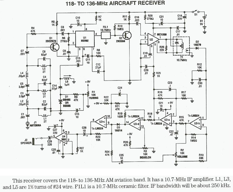 Radio-frequency RF circuit diagrams (also see RF Amplifier