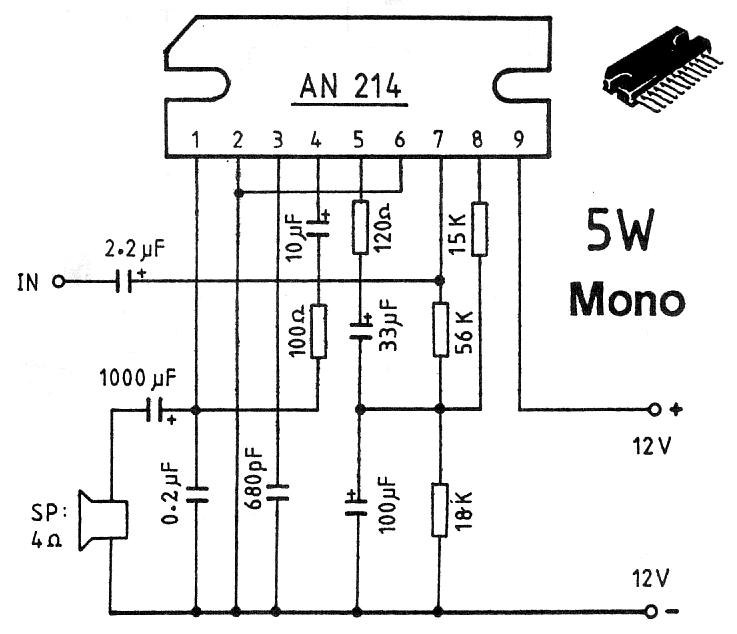 5w stereo audio amplifier
