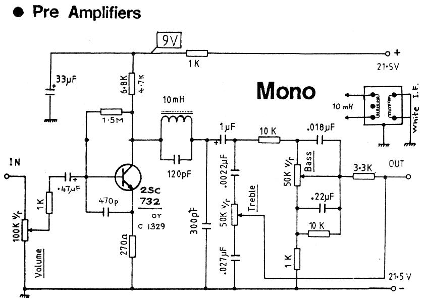 Audio preamp circuit diagrams / circuit schematics
