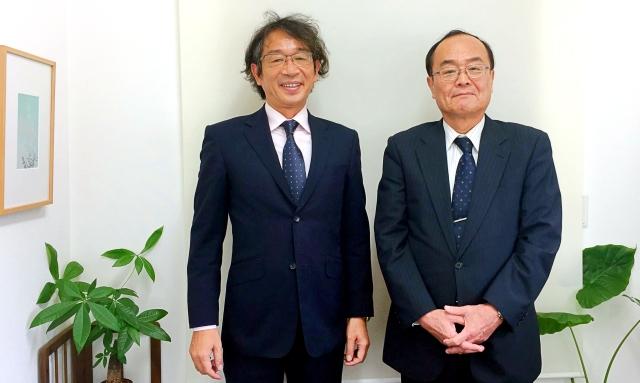 竹内代表と岡田カウンセラー