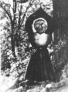 フラットウッズ・モンスター。 その奇怪な容姿は見る者に圧倒的なインパクトを与える。日本では『3メートルの宇宙人』としても知られる。