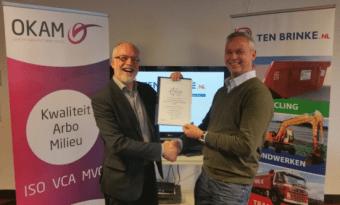 Uitreiking MVO verklaring Ten Brinke 20160215