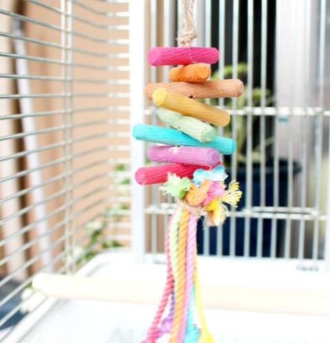 小鳥のおもちゃ Part3 木材着色