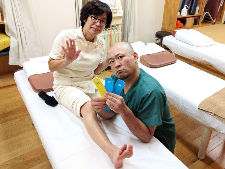 今回は足裏の痛みに対するテーピングです