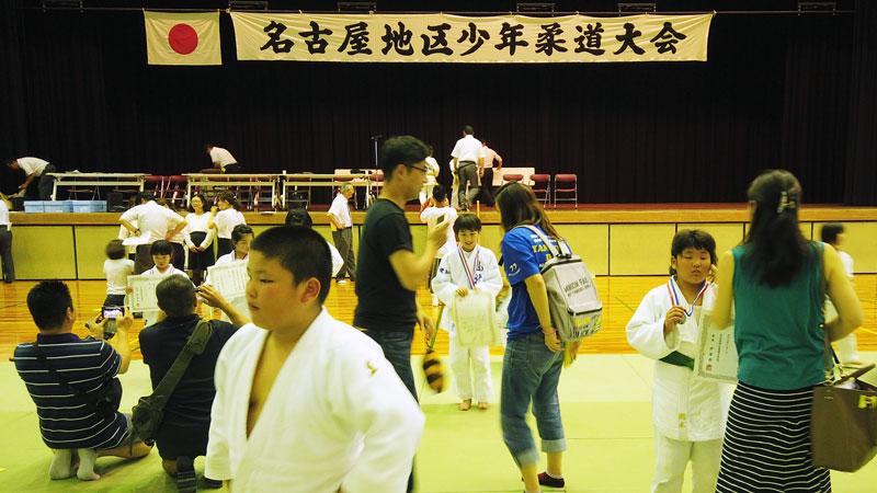 日曜日は名古屋地区少年柔道大会でした