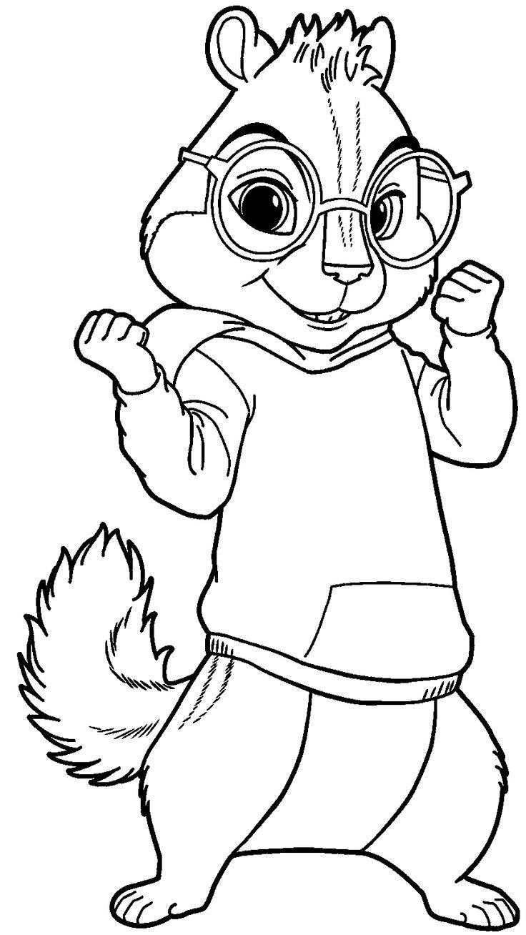 Ausmalbilder Zum Ausdrucken Alvin Und Die Chipmunks