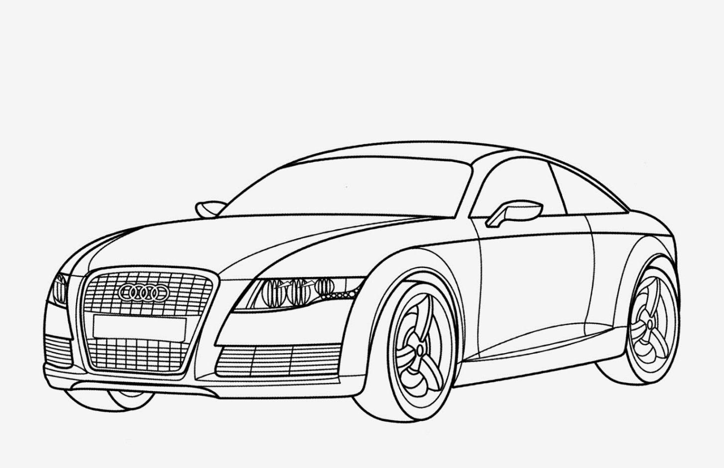 Kleurplaat Audi Q8 • Kidkleurplaat.nl