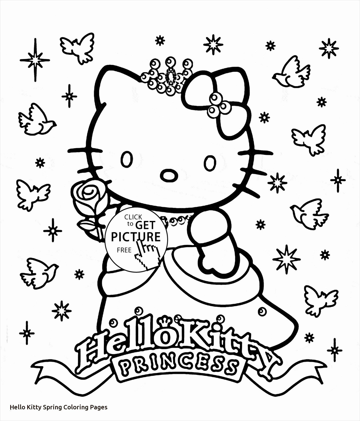 o Kitty House Coloring Pages on