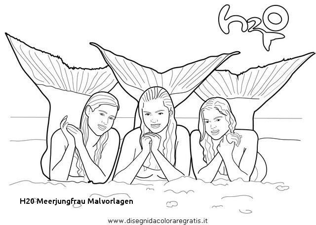 99 Inspirierend Ausmalbilder Meerjungfrau H2o Bilder
