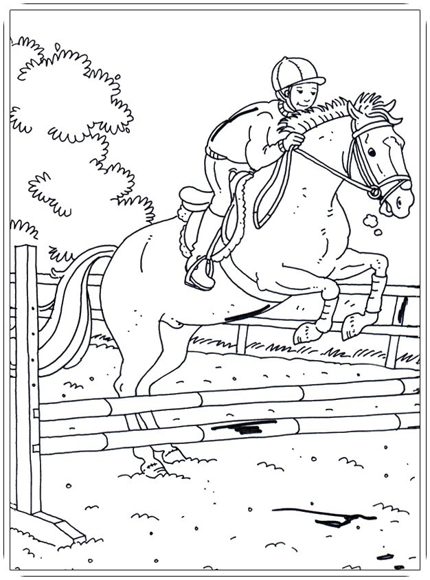 Malvorlage Pferd Mit Reiterin