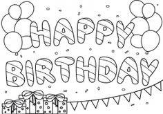 Happy Birthday Zum Ausmalen Einzigartig 16 Best