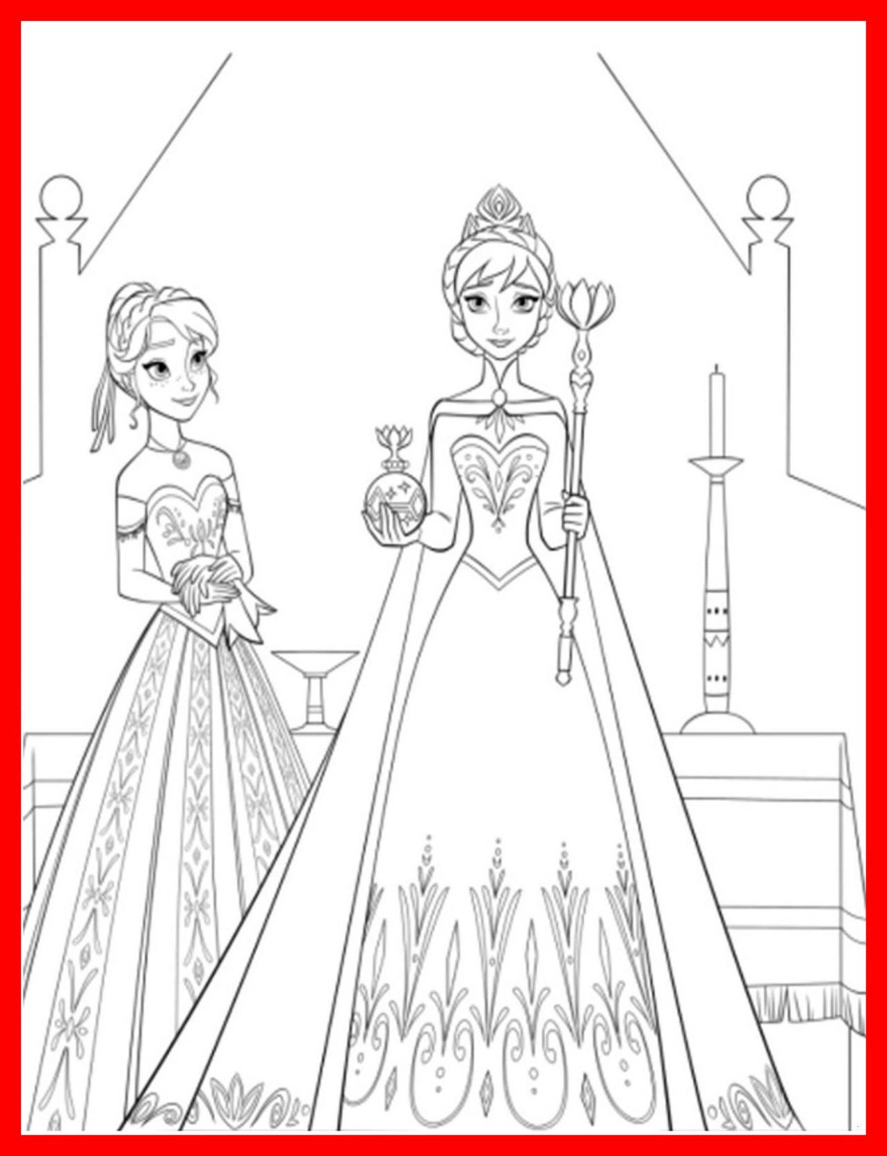 Malvorlagen Elsa Und Anna Einzigartig Elsa Anna Ausmalbild