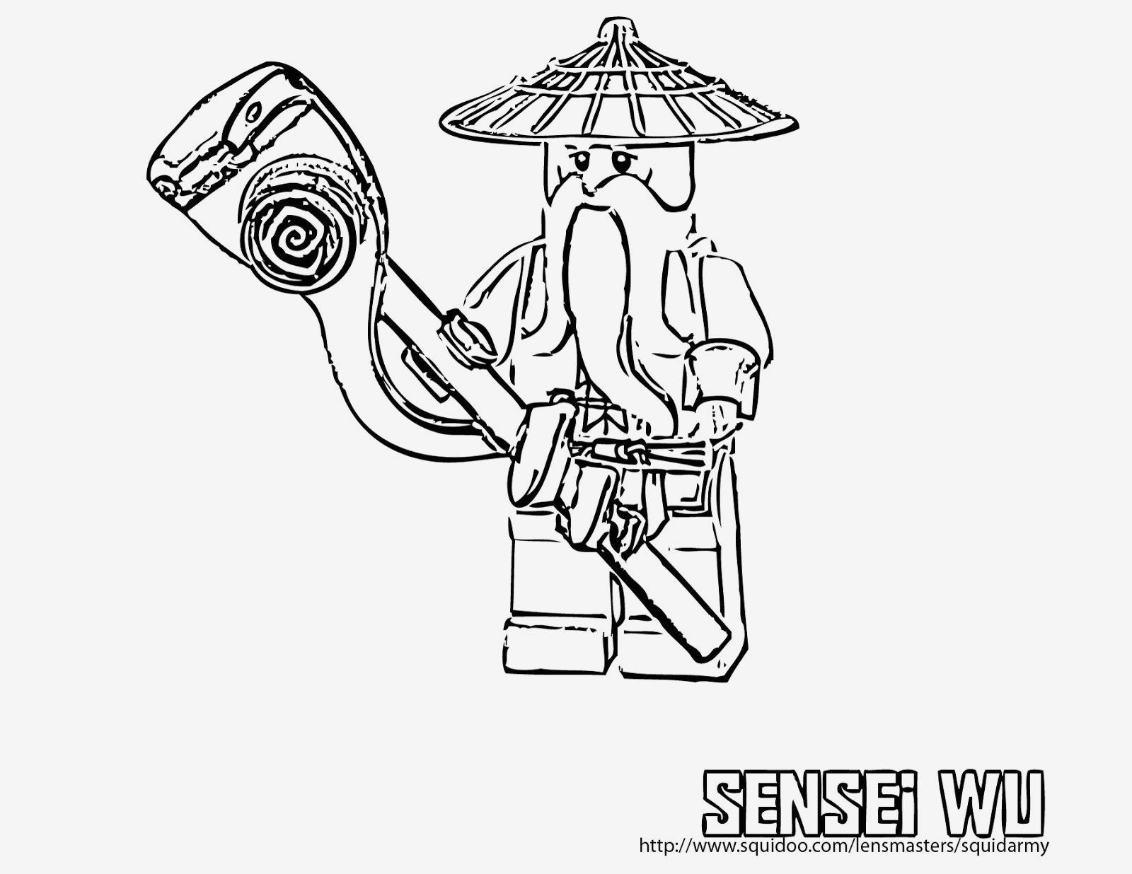 Ausmalbilder Ninjago Sensei Wu