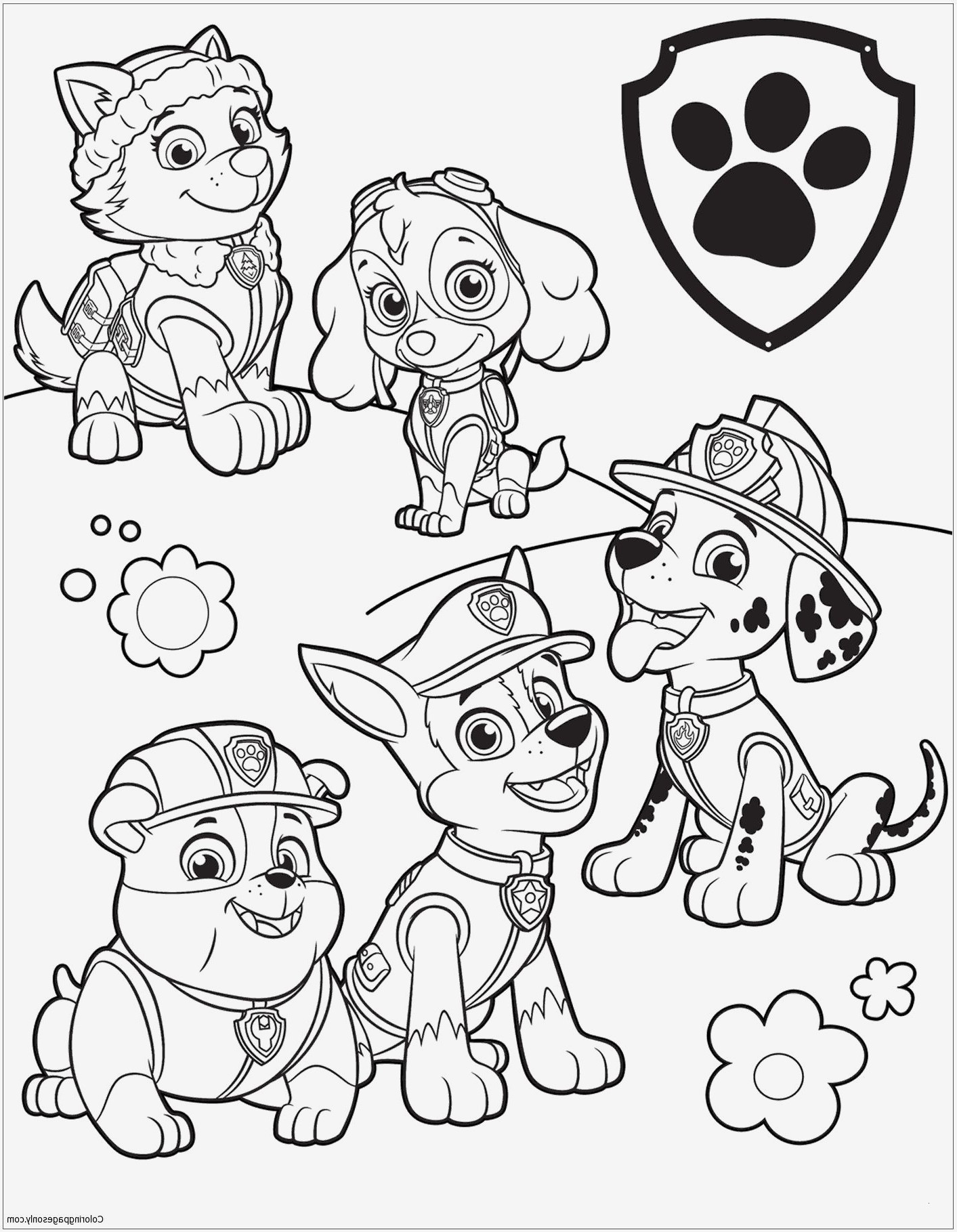 Paw Patrol Nickelodeon Malvorlagen