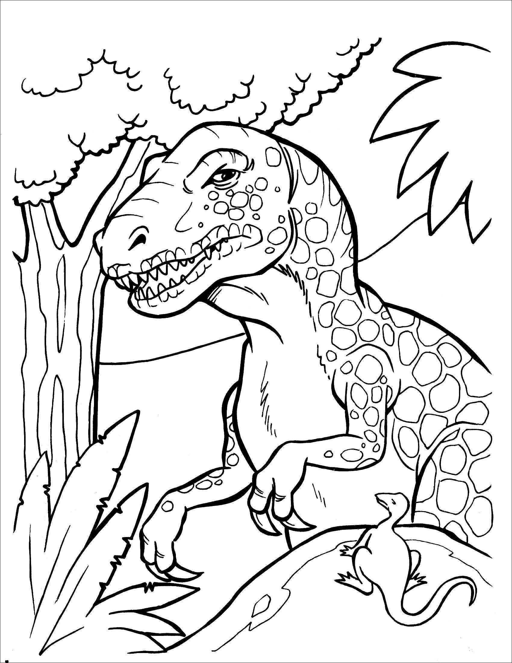T Rex Malvorlage Inspirierend Dinosaurier Bilder Zum