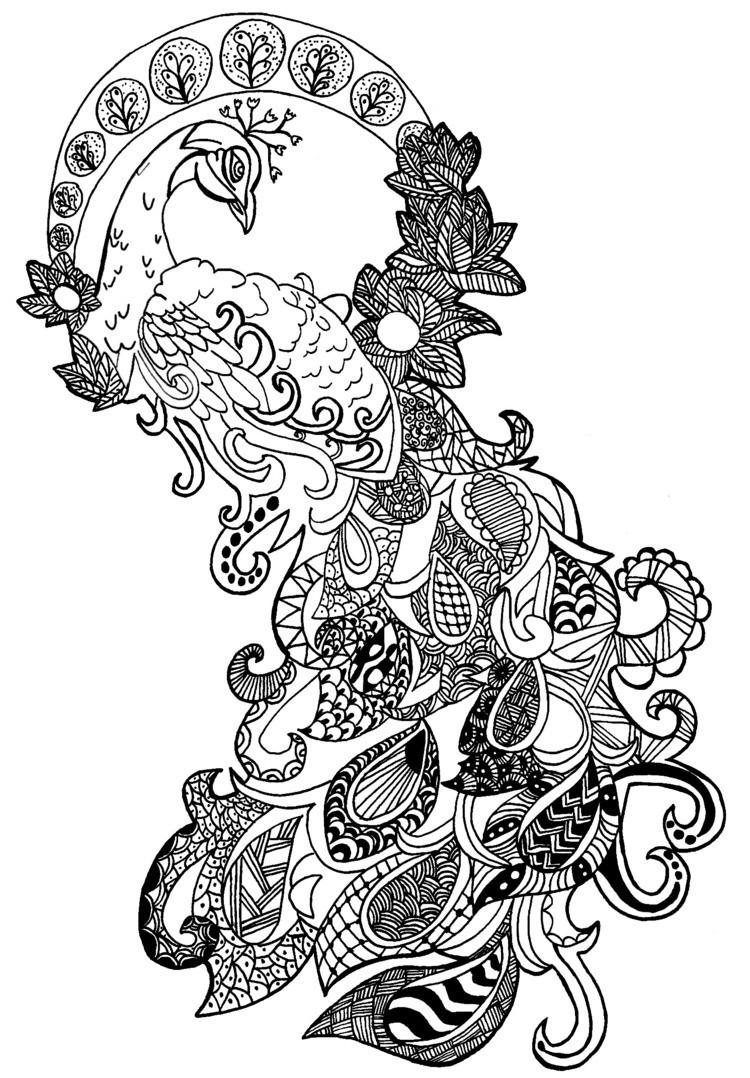 Zentangle Vorlagen Tiere Zentangle Gelbkariert Avec Muster