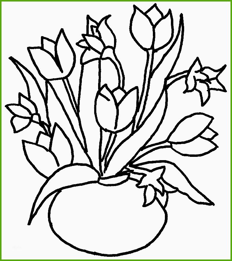 Ausmalbild Blumenstrauss Kostenlos - Cartoon-Bild