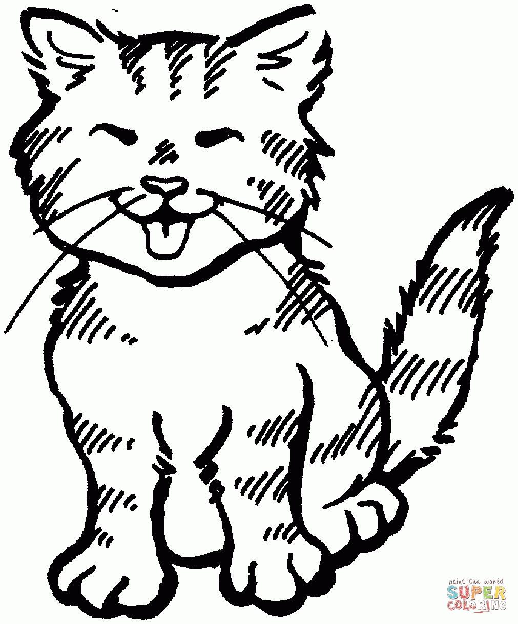Malvorlage Katzenkopf