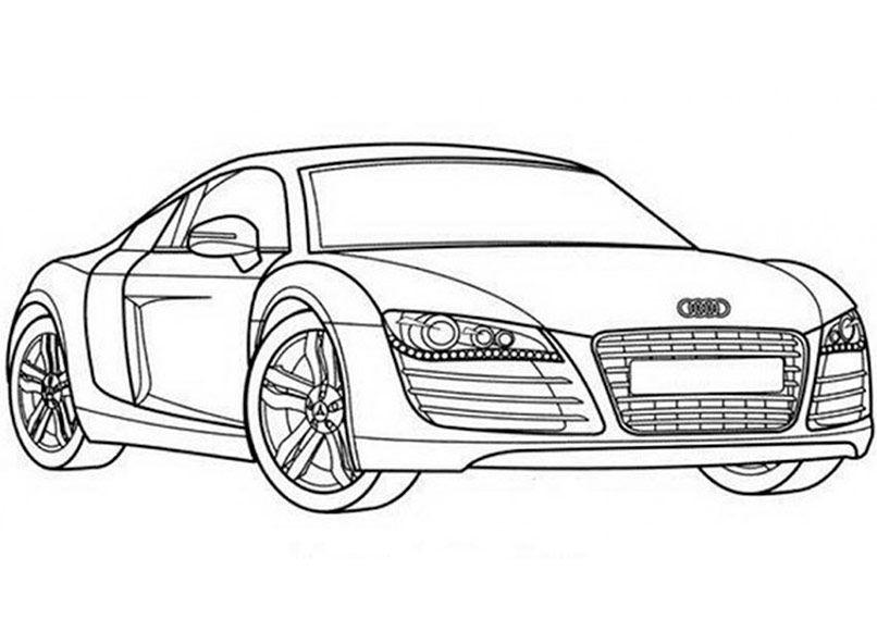 Ausmalbilder Rennauto Frisch Ausmalbilder Audi R8