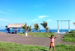Young girl on the beach in Guatemala