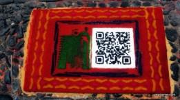Alfombra with QR Code - Antigua Guatemala