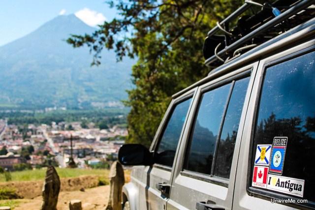 Driving to Cerro de la Cruz