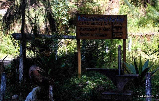 Parking fees at Cerro de la Cruz