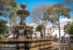 Antigua Guatemala Central Park fountain