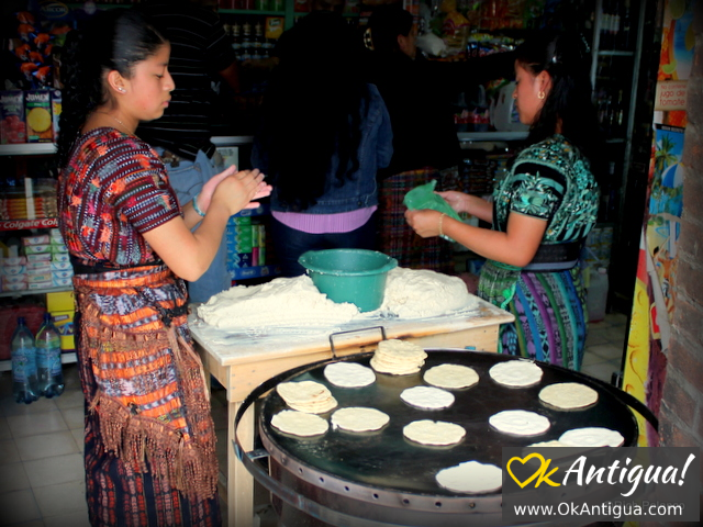 tortillas on the comal