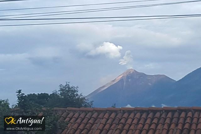 Fuego volcano from Antigua