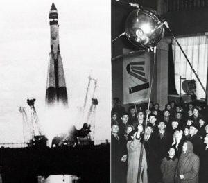Sputnik 1, Dünya'nın ilk yapay uydusu olarak tarihe geçti.
