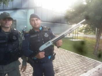 Arma apreendida na operação (Foto Iguatu.Net)