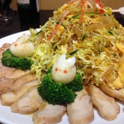 棒々鶏とクラゲのサラダ