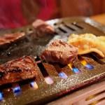 【焼肉ポプラ岡山】肉焼いてるところ