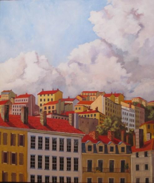 Croix Rousse, Lyon, France. Oil on Canvas. 2012.
