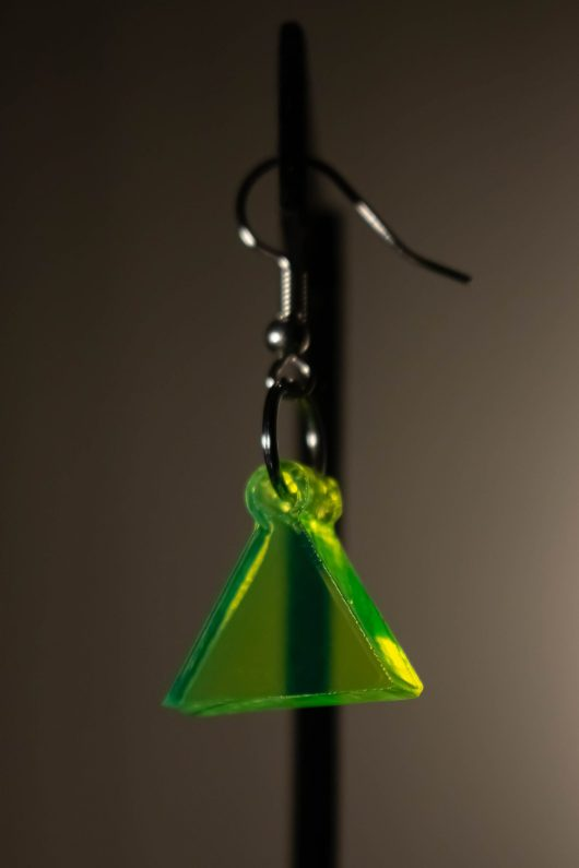 Green Dangle Earring