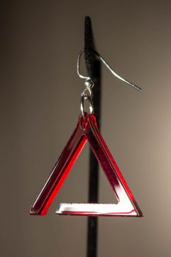 Incomplete Triangle Dangle Earring