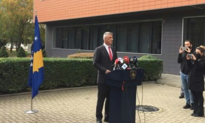 President Thaci steps down