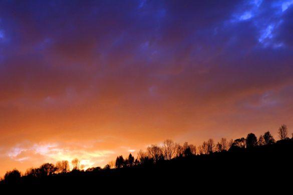 Zachód słońca nad Szczawnicą