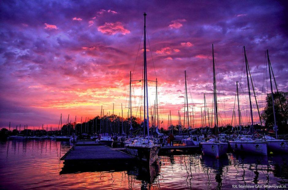 Zachód Słońca w Sztynorcie Le Boat Polska