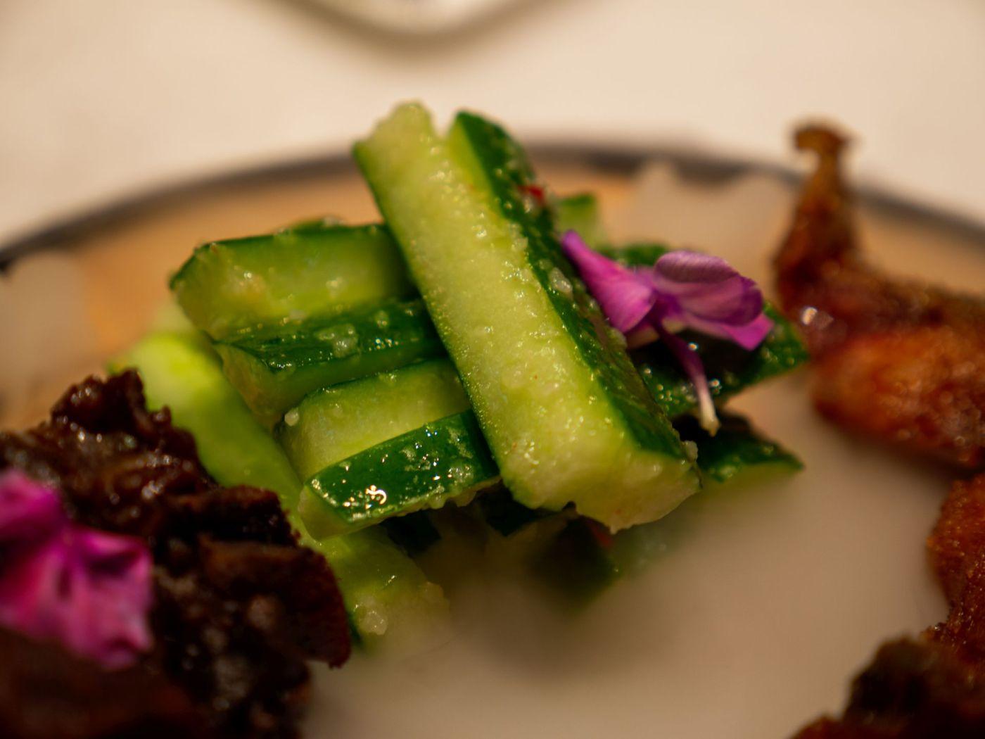 Jinling Dumpling - ogórki przyrządzone z czosnkiem