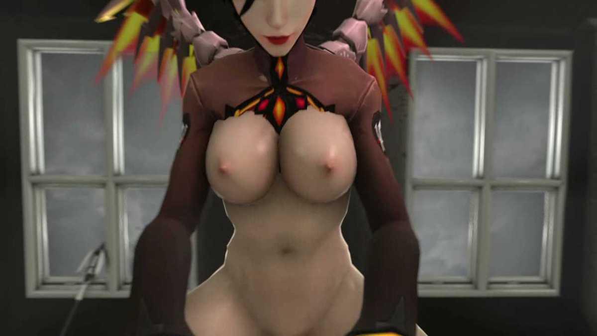 [3DCGアニメ] マーシー(アンジェラ・ジーグラー)が騎乗位で激しく腰を振り、たっぷり中出し【オーバーウォッチ(Overwatch)】 (23)