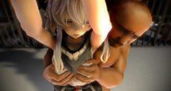 【艦これ,エロMMD】 ヲ級ちゃんがバックで突かれてぶっかけられるエロ動画 (2)